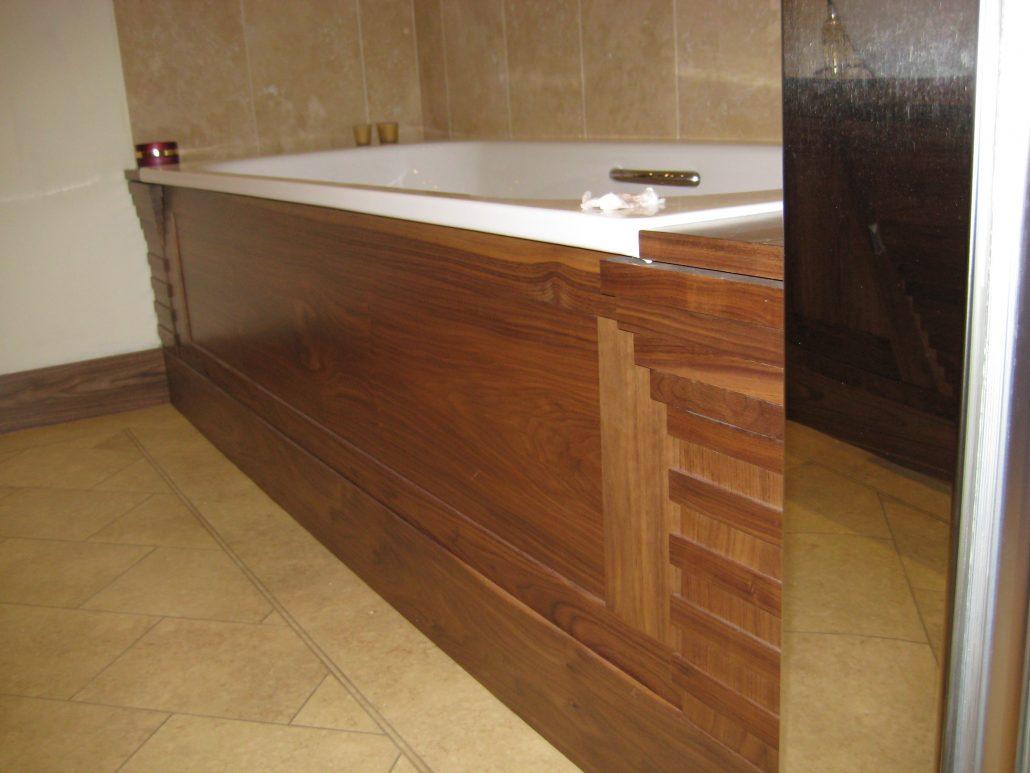 Walnut bathroom furniture - American Black Walnut Bath Panel Showing Detailing