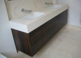 Maccasar ebony finish vanity unit pic 2