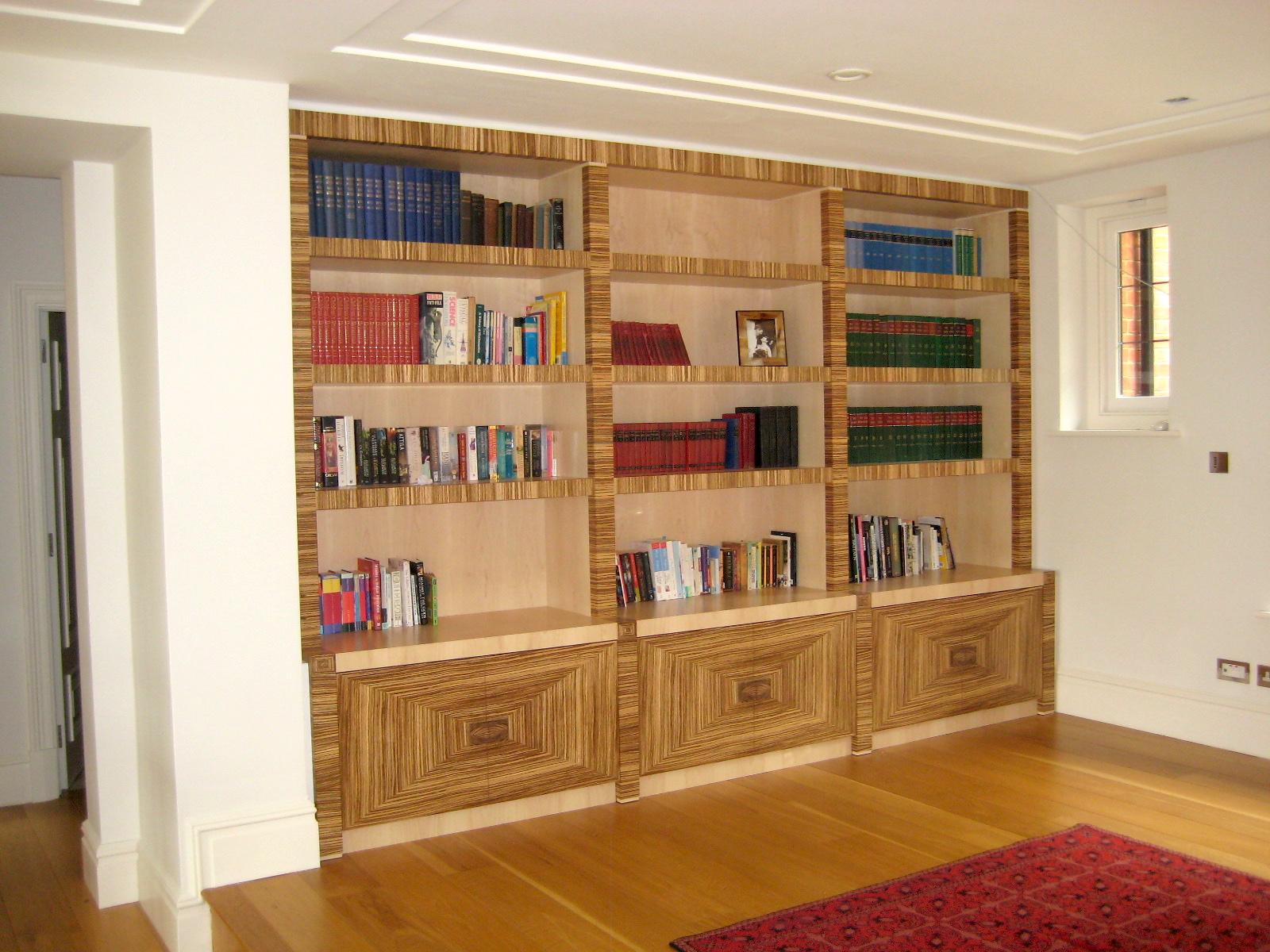Zebrano Bookcase