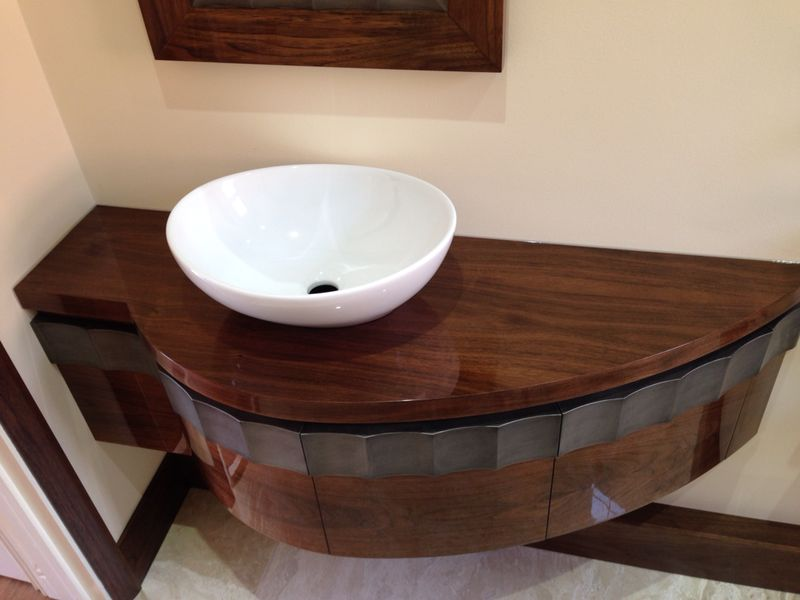 High Gloss American Black Walnut Bathroom Vanity Unit Bespoke Kitchens Amp Furniture By Mario Panayi
