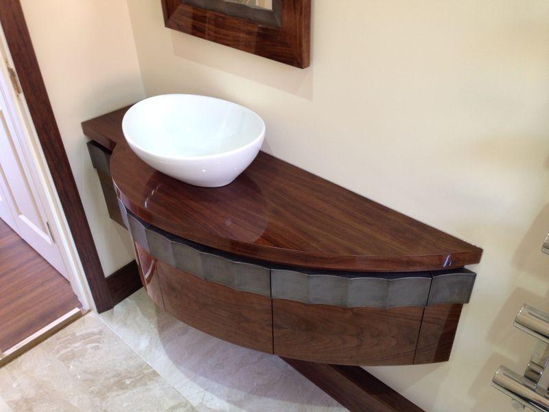 modern vanity bathroom omega tarin products walnut cabinetry