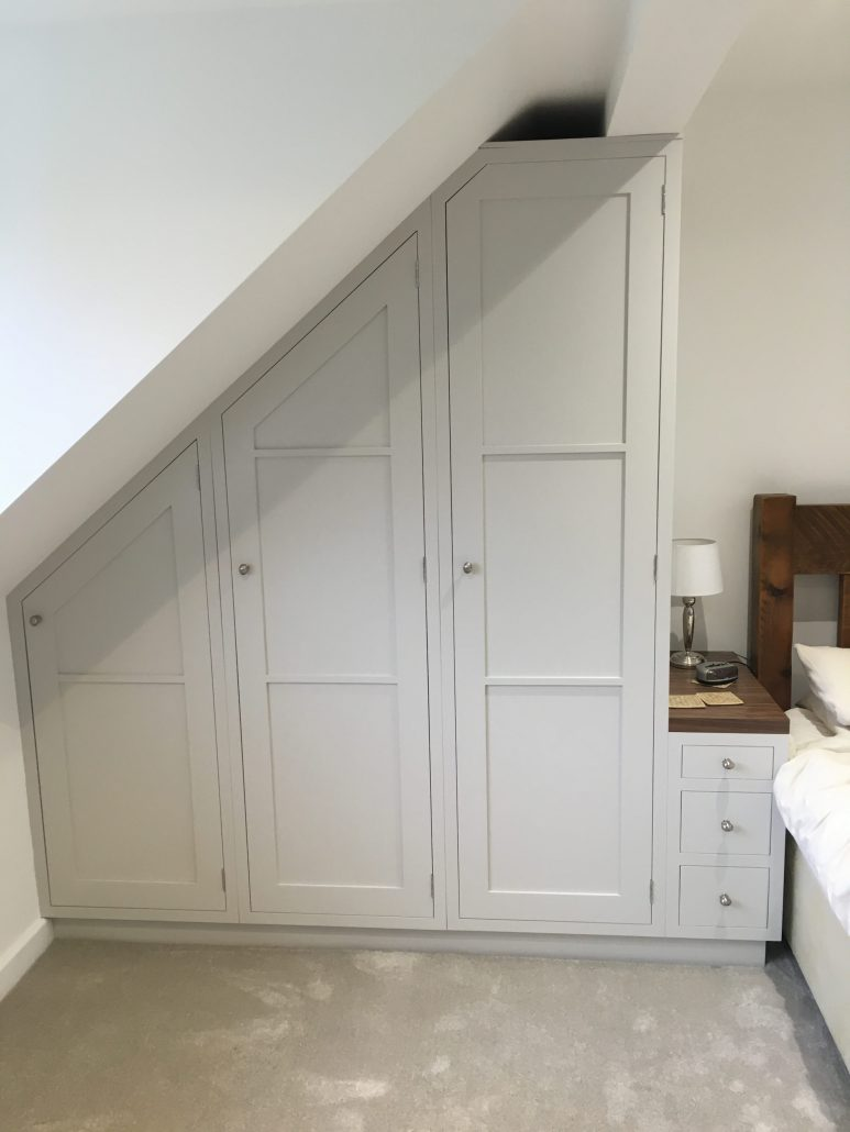 Painted Bedroom Wardrobes Dressing Table And Chest Of
