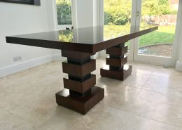 american black walnut 6 8 seater dining table with high gloss finish - 8 Seater Dining Table
