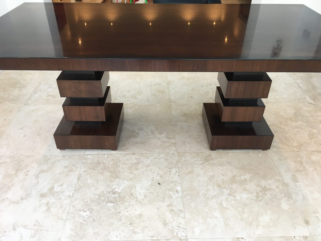 American Black Walnut 6 8 Seater Dining Table With High