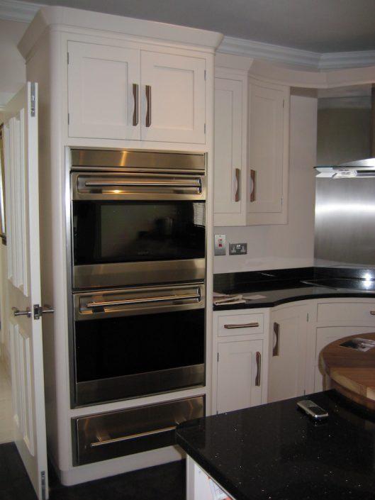 Painted Kitchen With American Black Walnut Fridge Freezer