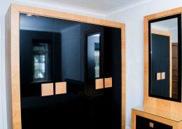 Oak Bedroom Wardrobes Black Gloss Doors